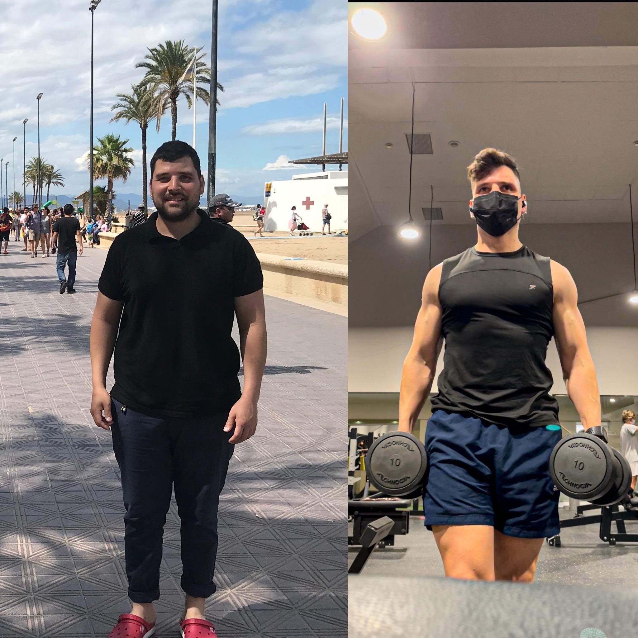 antes y después físico